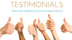 Testimonials…What do people say about you?